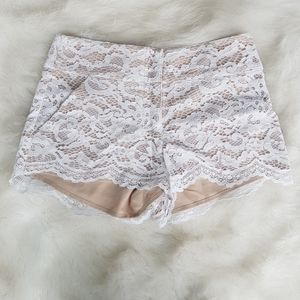 White marciano floral pattern shorts